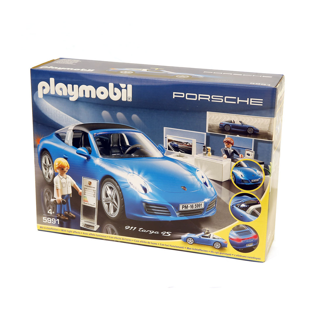 playmobil 5991 porsche 911 targa 4s azul. Black Bedroom Furniture Sets. Home Design Ideas