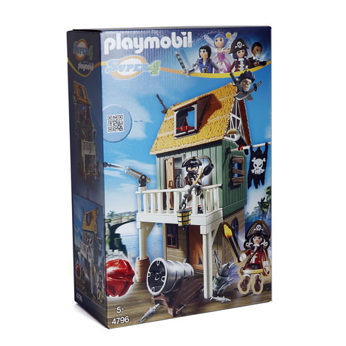 "Playmobil 4796 ""Super 4"" fortaleza de piratas con Ruby ¡Super 4!"