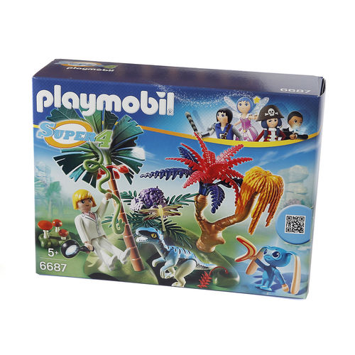 "Playmobil 6687 ""Super 4"" Isla perdida con alien y raptor ¡Super 4!"
