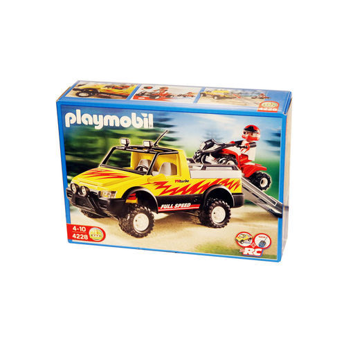 Playmobil 4228 Pick-Up con quad de carreras ¡Descatalogado!