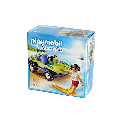 Playmobil 6982 Surfero con buggy de playa ¡Nuevo!