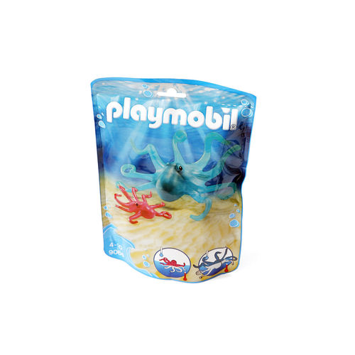 Playmobil 9066 Pulpo con cría ¡Nuevo!