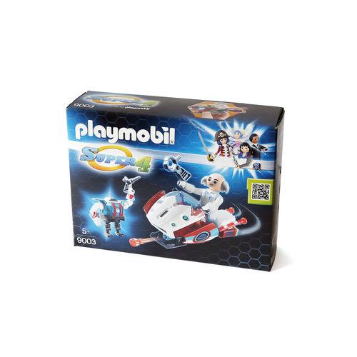 Playmobil 9003 Skyjet con Dr. X y robot ¡Nuevo!