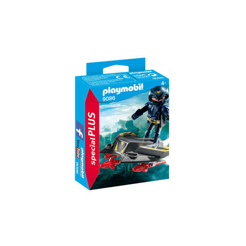 Playmobil 9086 Caballero del cielo con aerodeslizador ¡Nuevo!