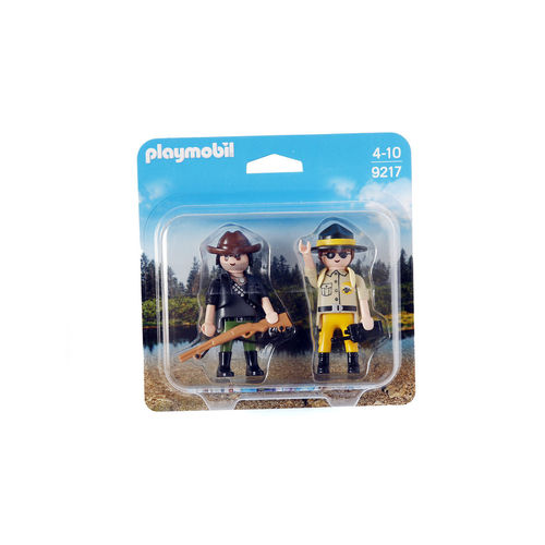 Playmobil 9217 DuoPack Guardabosques y furtivo ¡Nuevo!