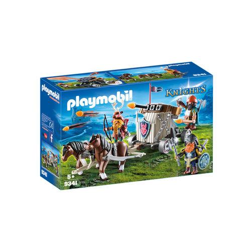 Playmobil 9341 Enanos con carro de ponys y ballesta ¡Medieval!