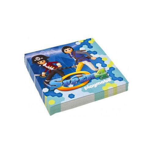 Servilletas Playmobil Super 4 ¡Cumpleaños!