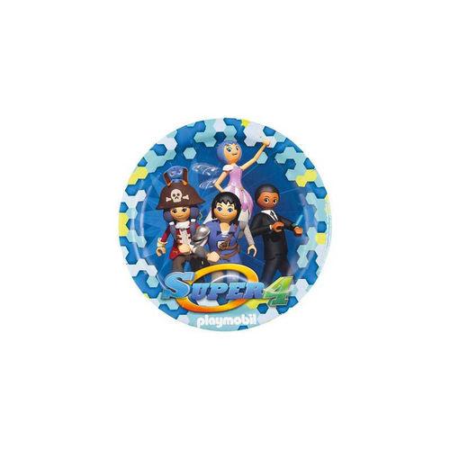 Platos de fiesta Playmobil Super 4 ¡Cumpleaños!
