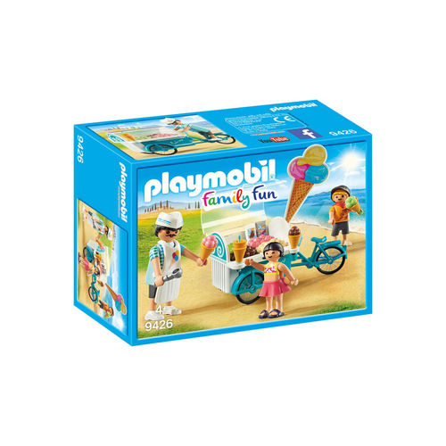 Playmobil 9426 Bicicleta con carro de helados ¡Family fun!