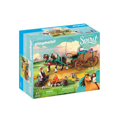 Playmobil 9477 Padre Jim con carreta ¡Spirit!