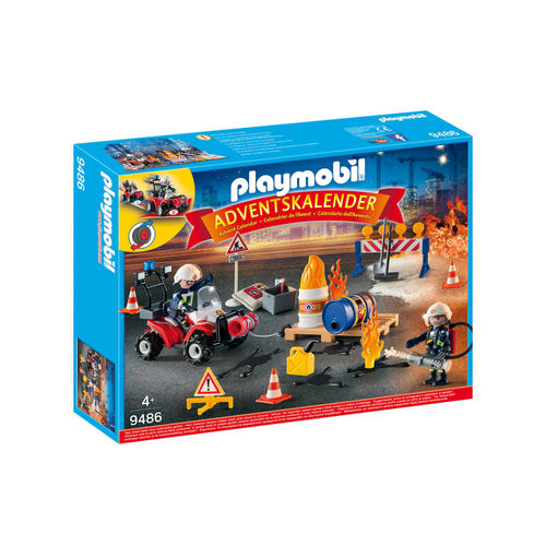 Playmobil 9486 Calendario de adviento de Bomberos ¡Navidad!