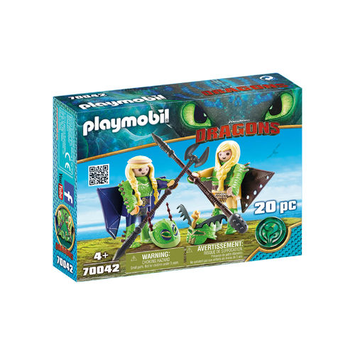Playmobil 70042 Chusco y Brusca con traje volador ¡Dragons!