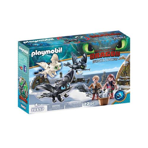 Playmobil 70457 Niños vikingos con bebes dragón ¡Dragons!