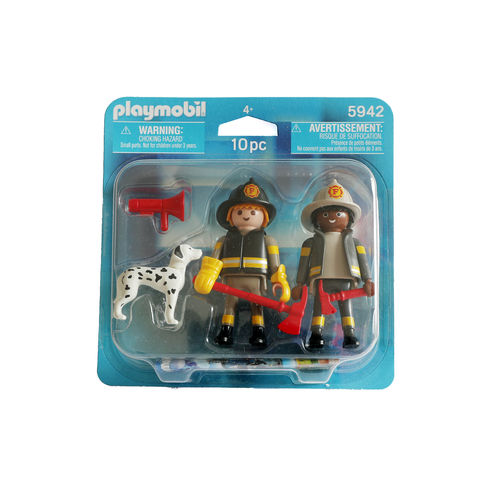Playmobil 5942 Duo Pack Bomberos y perro ¡City Action!