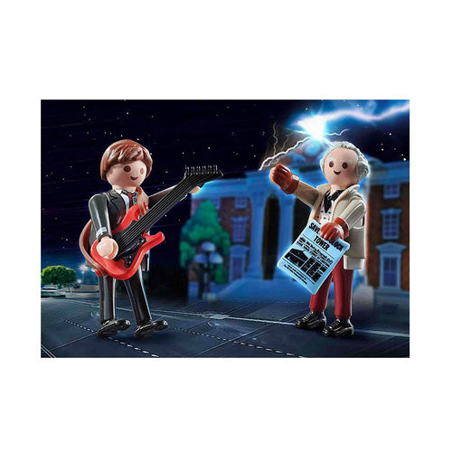 Playmobil 70459 Marty Mcfly y Dr. Emmett Brown ¡Back to the Future!