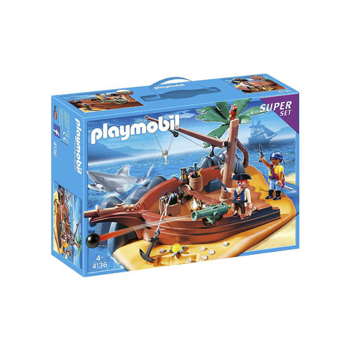 Playmobil 4136 Super set Naufragio pirata ¡Descatalogado!